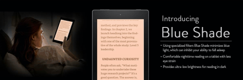 """Amazon Fire Tablets Updated With a """"Blue Shade"""" Light Filter For Better Night-Time Reading e-Reading Software Fire"""