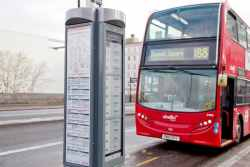London Trials E-ink Bus Signs E-ink Tech