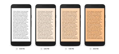 google play books night shade