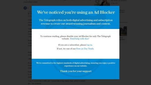 telegraph as block notice