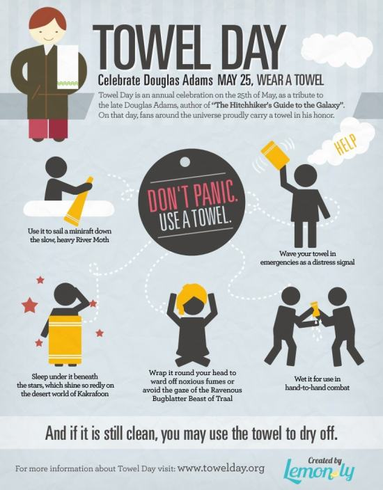 Infographic: Don't Panic - Use a Towel Infographic