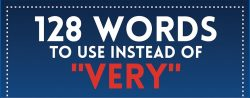 Infographic: 128 Words to Use in Place of the Word Very Infographic