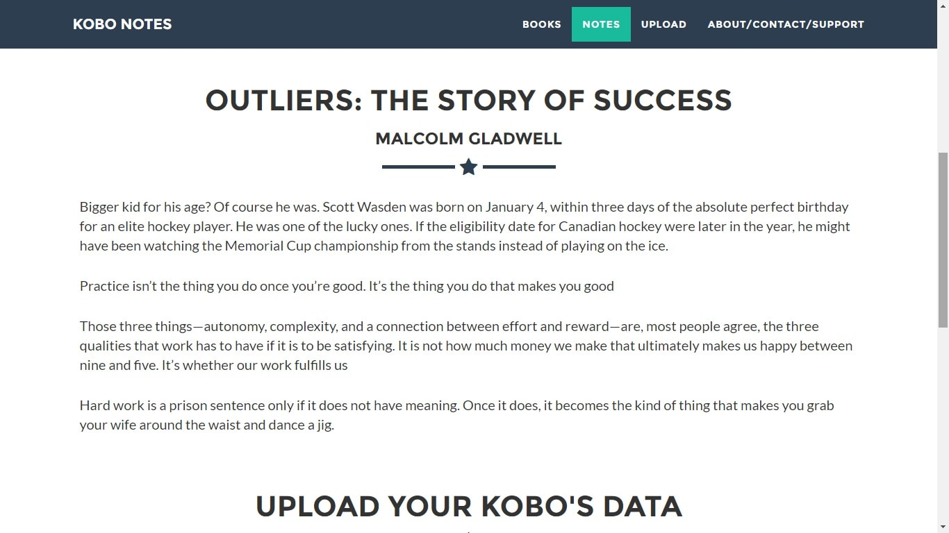 KoboNotes com Extracts Notes and Highlights from Your Kobo