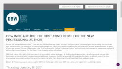 DBW Conference Adds Indie Author Track Conferences & Trade shows