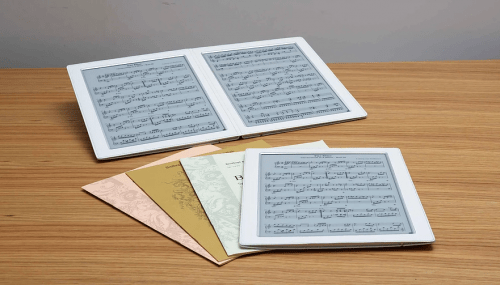 "Dual-Screen 13.3"" E-ink Musik eReader by Design M Plus (video) e-Reading Hardware"