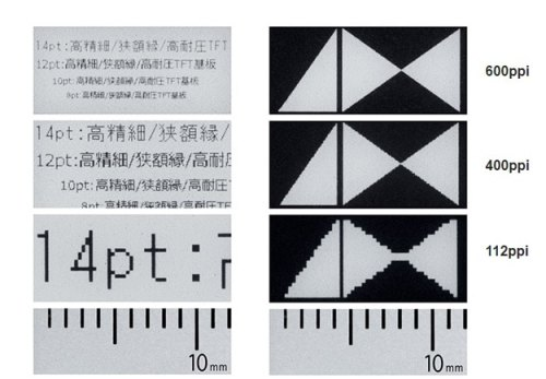 Japan Display Demos a 600 PPI E-ink Backplane e-Reading Hardware Screen Tech