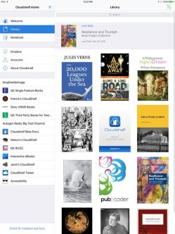 Cloudshelf Reader Epub3 App Released for Android, iOS e-Reading Software
