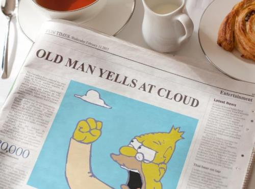Old Coot Hates Modern Internet Blast from the Past