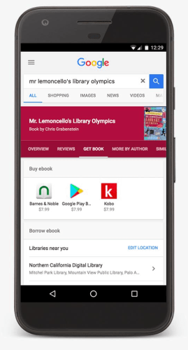 Google Added Local Library eBook Listings to Search Results Google Library eBooks