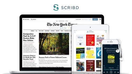 Scribd Launches Student Essential Bundle With a Small Discount Streaming eBooks