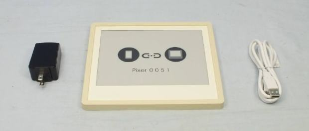 """New 7.8"""" Pixer Digital Picture Frame Features Wifi, 300 PPI Carta E-ink Screen e-Reading Hardware"""