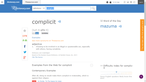 "With the Help of Ivanka Trump, Dictionary.com Chooses ""Complicit"" as its Word of the Year Language"