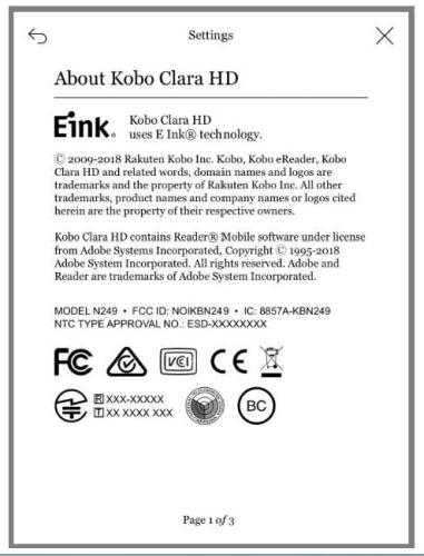 Kobo Clara HD Clears the FCC e-Reading Hardware Kobo
