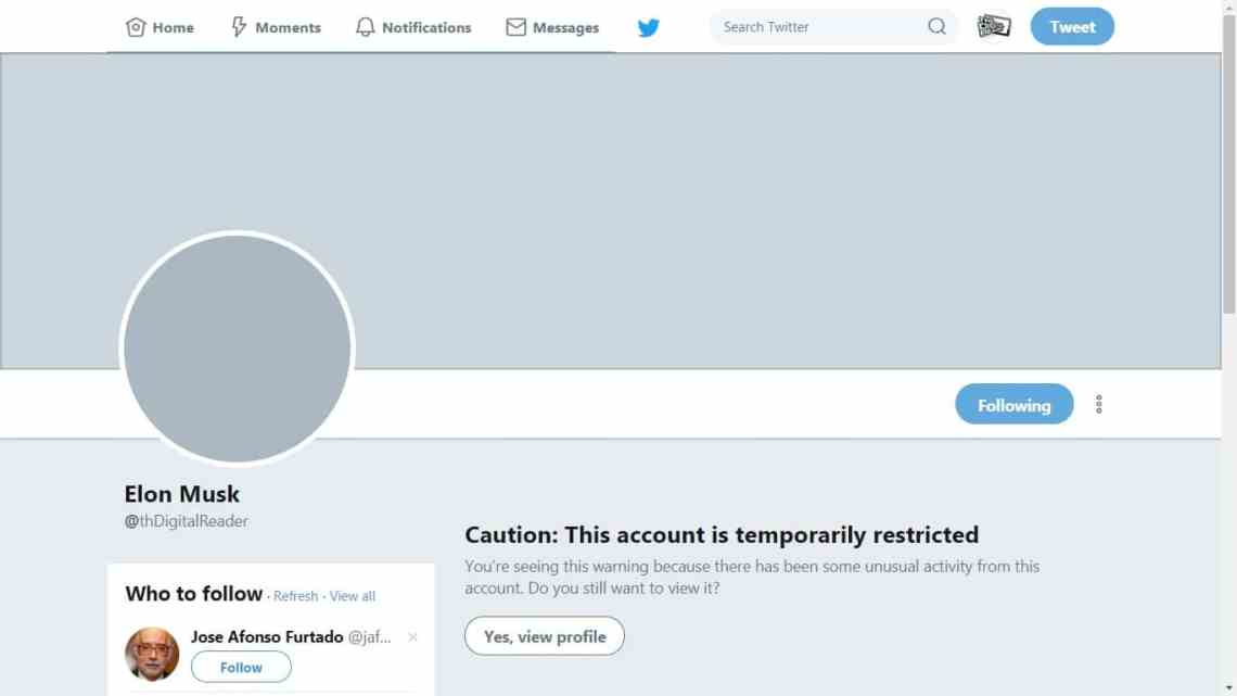 "Twitter Will lock Your Account If You Change the Display Name to ""Elon Musk"" Security & Privacy Social Media"