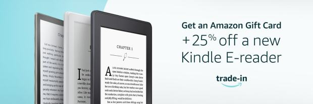 Trade in an Old Kindle and Amazon Will Give You 25% Off a New One e-Reading Hardware Kindle