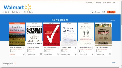 Walmart Now Partnered with OverDrive eBookstore Overdrive