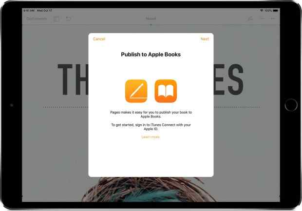 Pages Now Publishes Directly to Apple Books Apple e-Reading Software iBooks Author