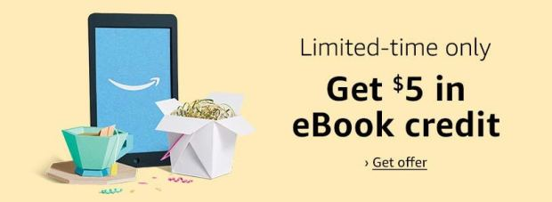 Amazon Prime Subscribers Can Get a $5 Credit When They Buy $20 in Kindle eBooks Amazon