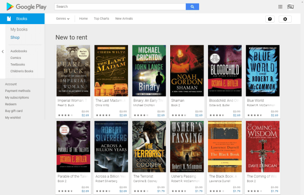Google Play Books is Now Renting Novels Published by Open Road Media Google Books