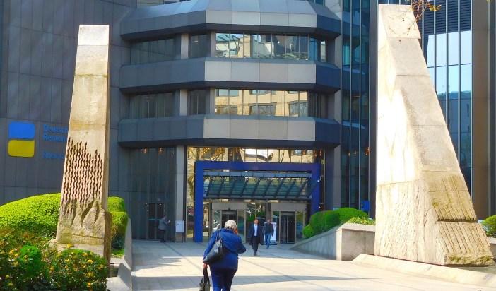 Der Eingang des LVA-Gebäudes an der Friedrichstraße (Foto: TD)