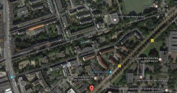 Google-Map: Die Düssel an der Feuerbachstraße