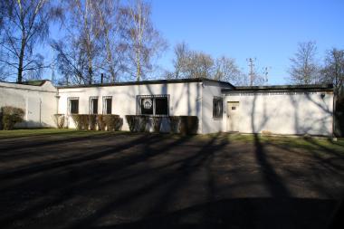 Der Schießstand des Eisenbahner Sportverein Blau-Weiß Düsseldorf am Flinger Broich