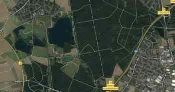 Google-Map: Überanger Mark und Kalkumer Forst