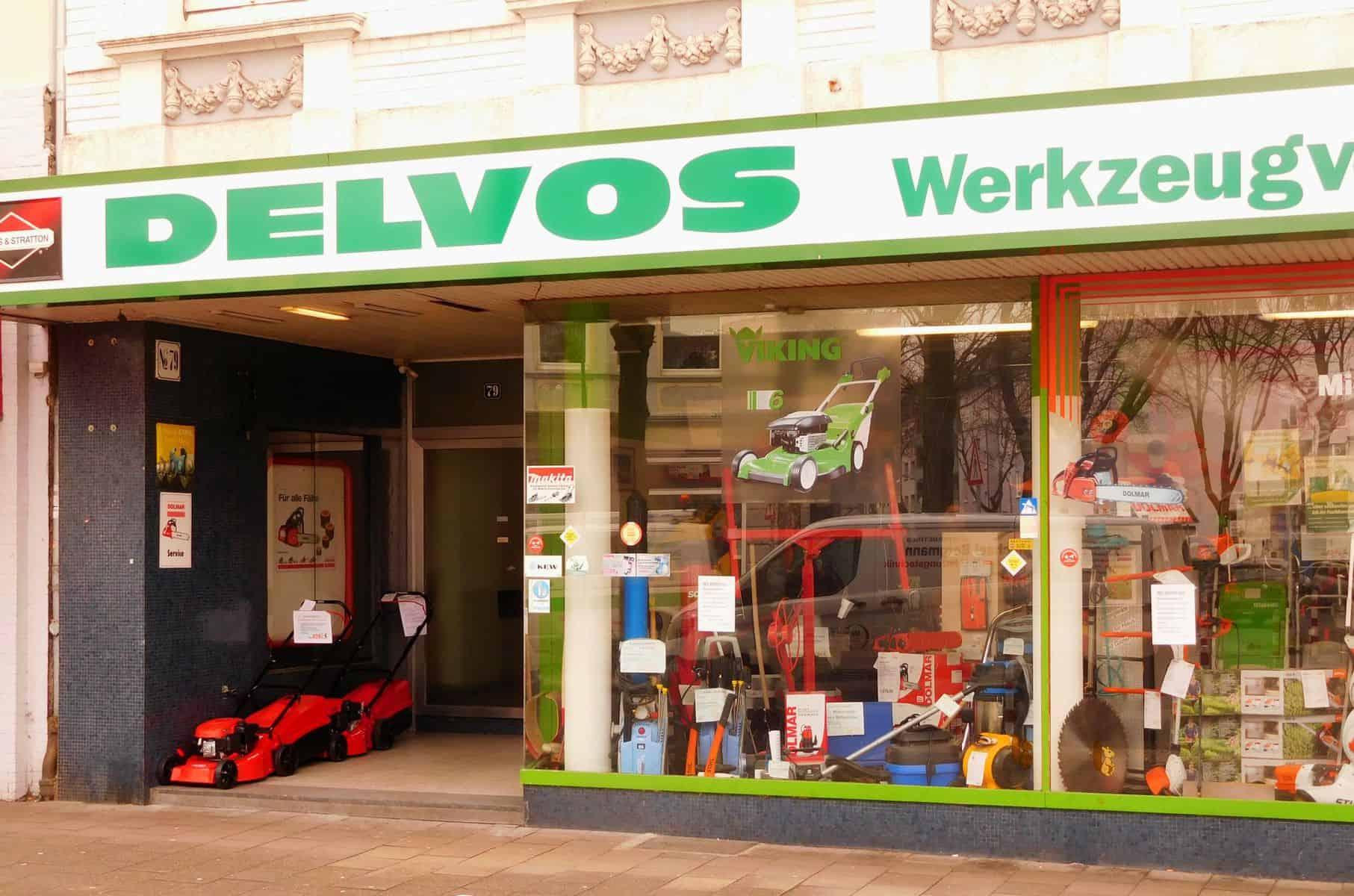 Gibt's vermutlich schon immer: Delvos Werkzeugvermietung auf der Flurstraße (Foto: TD)