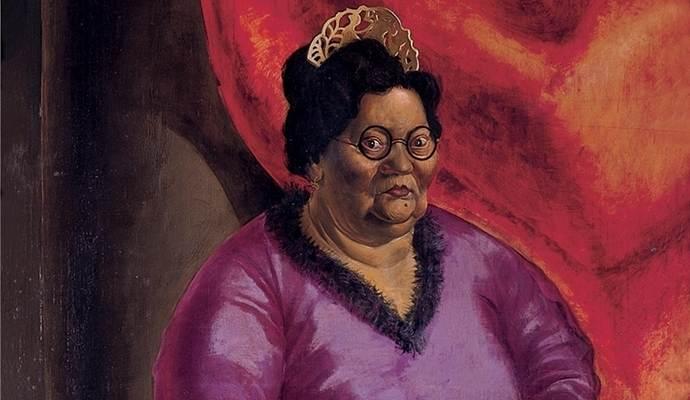Mutter Ey - Ausschnitt aus dem Gemälde von Otto Dix