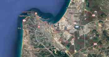 Google-Map: Großraum Haifa