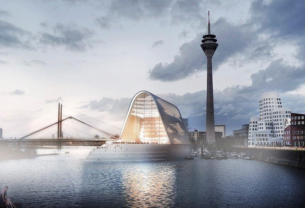 Vorschlag für eine neue Rheinoper (Illustration: RKW Architektur)