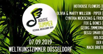 Das ist das Programm des Acoustic Summer 2019