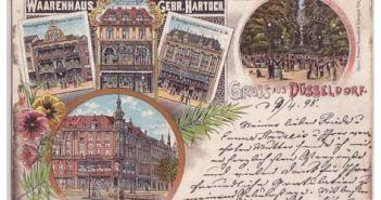 Sogar Postkarten wiesen auf das Warenhaus Hartoch hin