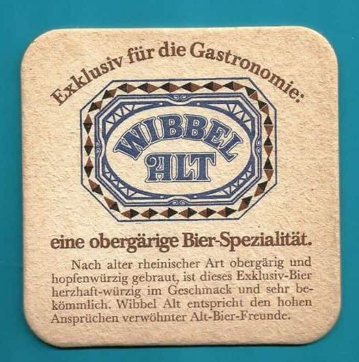 Wibbel Alt hieß das Altbier aus der Wuppertaler Brauerei Wicküler