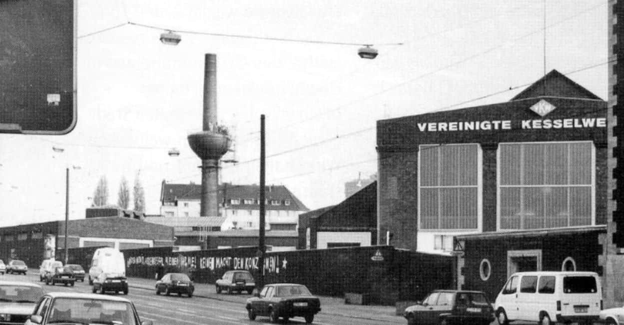 Die Vereinigten Kesselwerke - hier von der Werdener Straße aus gesehen