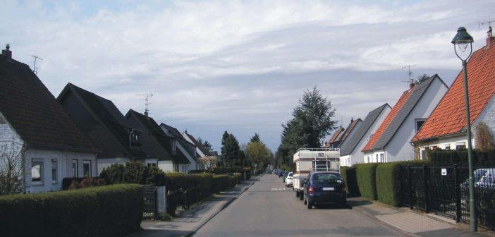 Blick in die Siedlung Tannenhof (Foto via Wikimedia - siehe Bildnachweise unten)