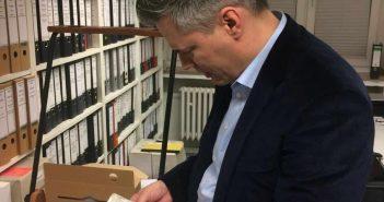 Bastian Fleermann - das Gesicht der Mahn- und Gedenkstätte (Foto: Buck)