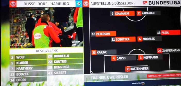 F95 vs HSV: Die fortunistische Startaufstellung /Sky-Screenshot)