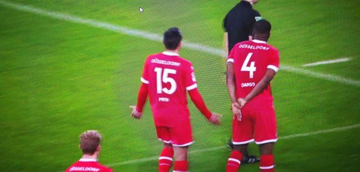 F95 vs Kiel: Danso will den Elfer nicht wahrhaben