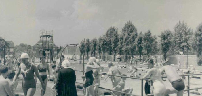 Schon in den 50-er Jahren tummelten sich die Badegäste im Diakoniebad (Foto: Archiv der Diakonie Kaiserswerth)
