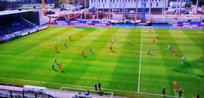 SVD vs F95: Mitten im Umbau, der schöne Sportplatz am Böllenfalltor (Screenshot Sky)