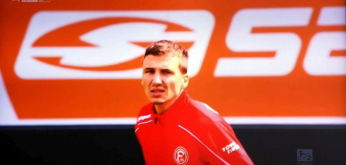 Paderborn vs F95: Sobottka heute nicht so auffällig (Screenshot: Sky)
