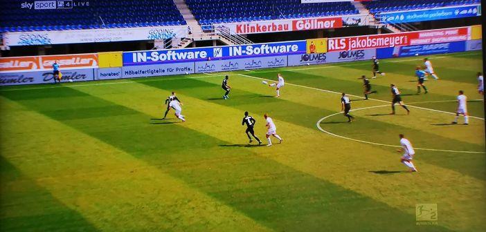 Paderborn vs F95: Feiner Konter über Klaus Screenshot: Sky)