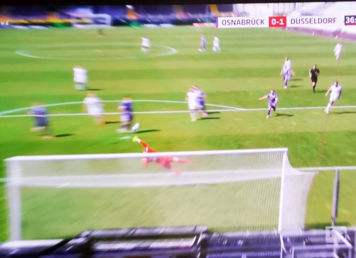 Osnabrück vs F95: Das feine 1:0 durch Kris Peterson (Screenshot Sky)