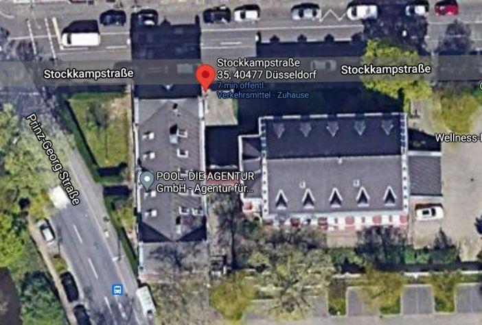 Die Lage des Hauptstaatsarchivs (Screenshot: Google-Maps)