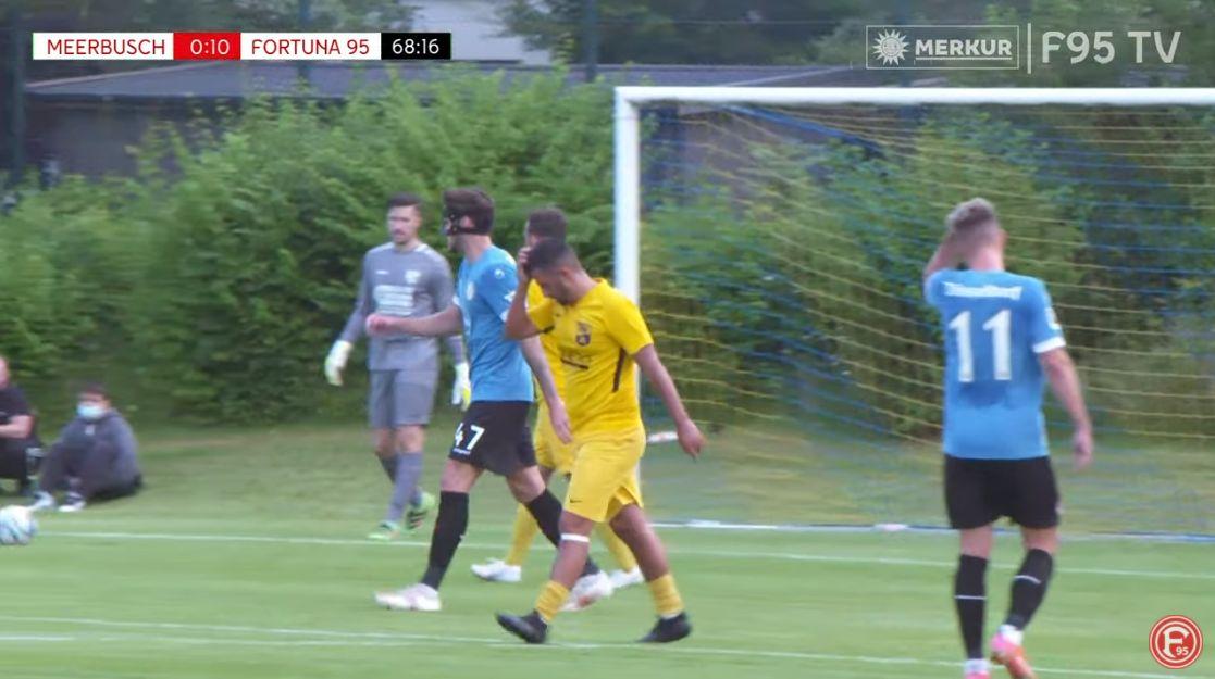 TSV Meerbusch vs F95: Da stand es schon 9:0... (Screenshot: F95TV)
