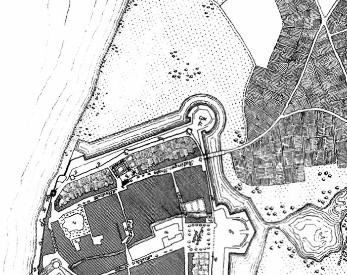 Lage des Ratinger Tors um 1609 (Quelle: maps.duesseldorf.de)