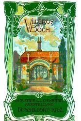 Titelbild der Broschüre von Villeroy & Boch zum Majolikahäuschen