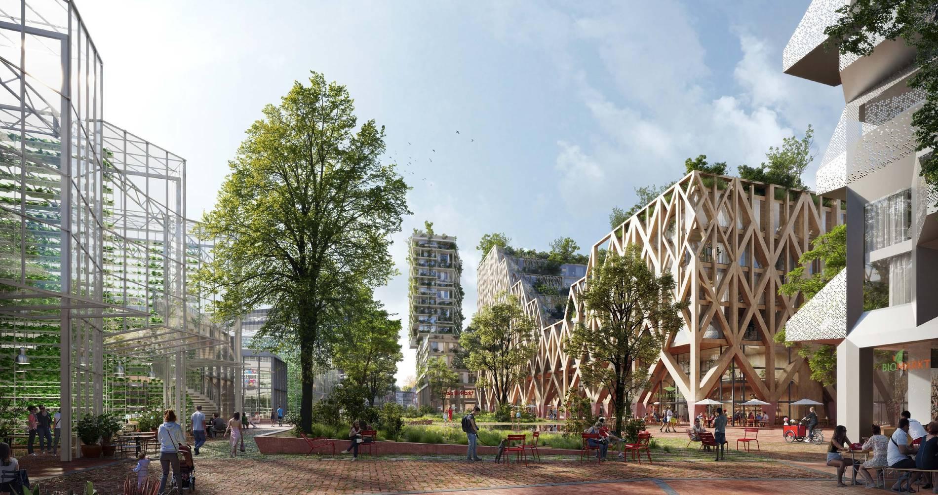 """Könnte """"The Good"""" unter den neuen Düsseldorfer Wohnvierteln werden: der neue Metro-Campus (Foto: ACME, London mit Stadt Land Fluss, Berlin mit Kieran Fraser Landscape Design, Wien)"""