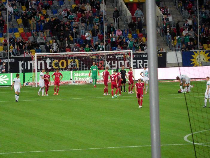 F95 vs Bremen: Beim Bremer Elfer sah Flo Kastenmeier gut aus (Foto: TD)